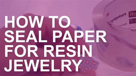 How To Make A Paper Seal - how to seal paper for resin jewelry