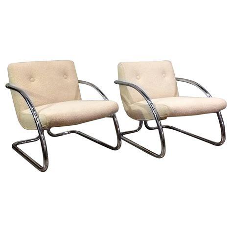 chrome folding upholstered armchair at 1stdibs tubular chrome upholstered lounge chairs for sale at 1stdibs