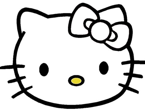 hello kitty bow coloring pages pin the bow on hello kitty template