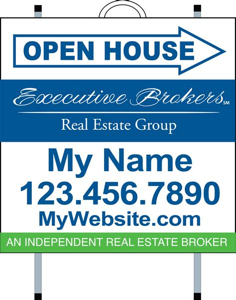 open house signs real estate executive brokers real estate signs yard signs open