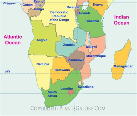 southern africa map the map of southern africa images