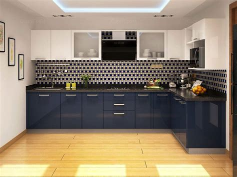 modular kitchen cabinets india blue berry l shaped modular kitchen home kitchen
