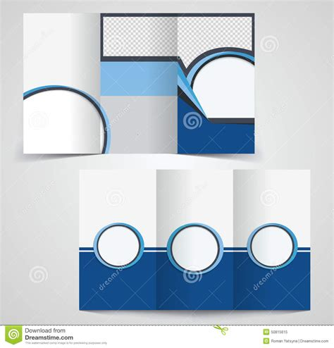 Tri Fold Business Brochure Template Two Sided Template Design Stock Illustration Image 50815615 Sided Tri Fold Brochure Template