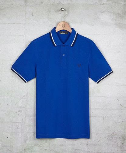 Sale Pedro Original Sz 44 45 fred perry classic fit tipped polo shirt regal blue