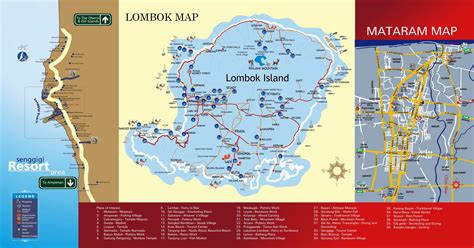 printable peta indonesia lombok map tourist tourism map of lombok island indonesia