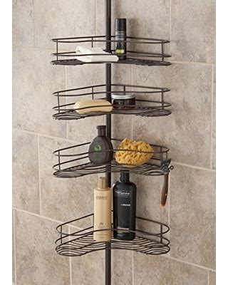 interdesign 174 rain oil rubbed bronze pole shower caddy shower caddies tenby living corner shower caddy 4 shelf