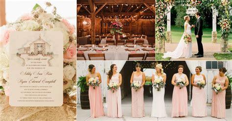 Perfect Pink Rustic Wedding Ideas   Rustic Bride