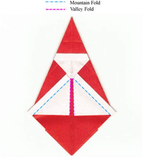 Simple Origami Santa Claus - how to make a simple origami santa claus page 10