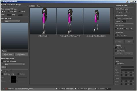 Animation Description by Animation Manager Jos 233 Mar 237 A Tejeda Chispi