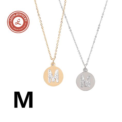 popular m necklace buy cheap m necklace lots from china m