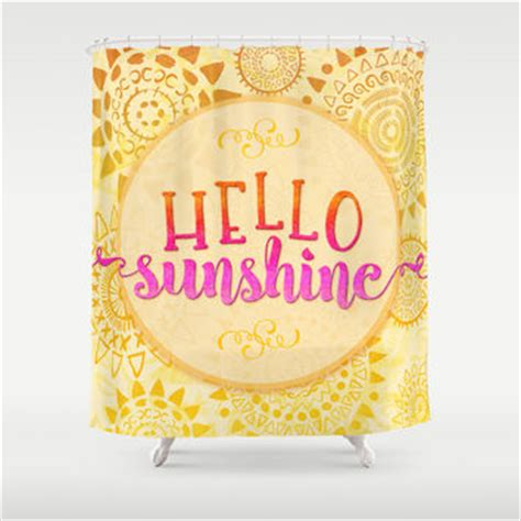 sunshine shower curtain hello sunshine shower curtain by noonday from society6
