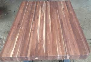 black walnut butcher block clear lacquer finish table 1800 s house renovations finishing the butcher block