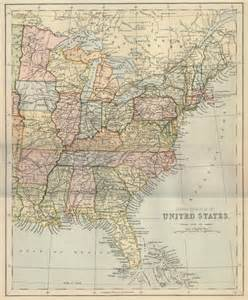 Map Of Eastern Us States by Old Maps Of United States