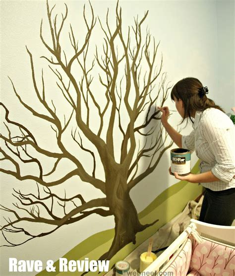 how to paint a mural on a wall tree wall painting 27