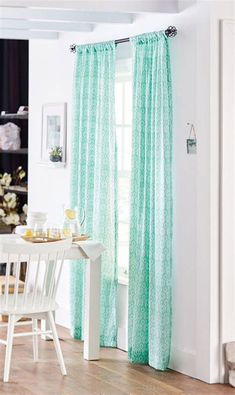 blue sheer curtain panels window coverings everything turquoise