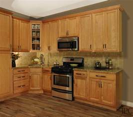 Oak Kitchen Furniture Gorgeous Golden Oak Kitchen Cabinets With Round Stainless