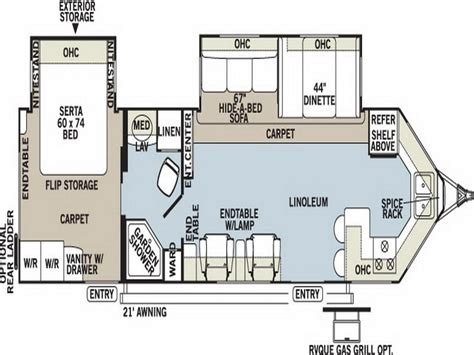 trailer floor plans planning ideas travel trailer floor plans light travel
