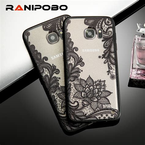 Softcase Flower List Samsung Galaxy S8 Plus Ring Stand s6 edge lace retro vintage floral flower printed soft for samsung galaxy s7 s6