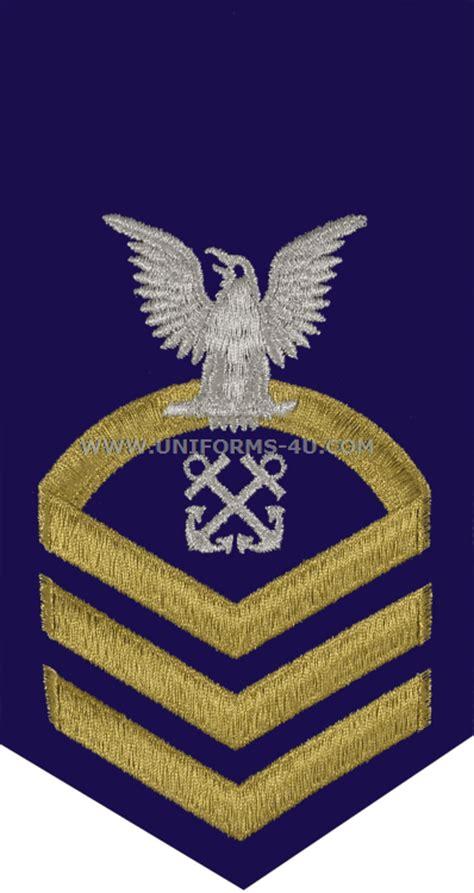 boatswain uscg uscg e7 boatswains mate bm blue rating badge
