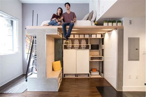 how to maximize studio apartment space custom loft maximizes space in tiny condo freshome