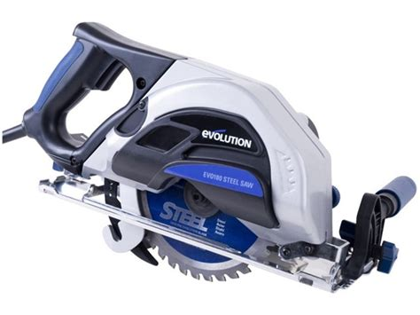 Steel Cutters Metal Cutting by Evolution Evo180 Steel Metal Cutting Circular Saw 110v