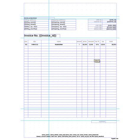 Rechnung Haben Englisch Standard Invoice Englisch Rechnungstemplate Aromicon Agentur