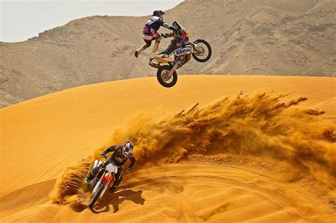Fly To Ktm Marc Coma Proves The Ktm 450 Rally Really Can Fly