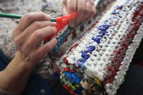 How To Make A Doormat Out Of Plastic Bags by Around Town Makes Mats For The Homeless Out