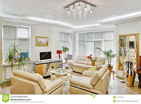 modern art deco style drawing room interior stock photo image