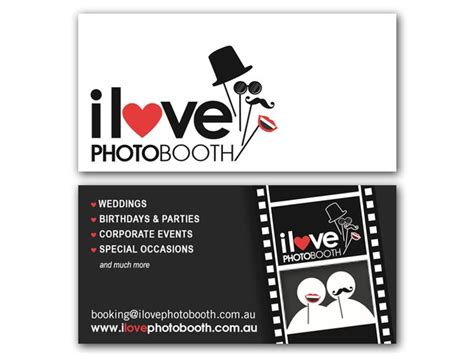 photo booth business card template business card photo booth szukaj w wizyt 243 wki