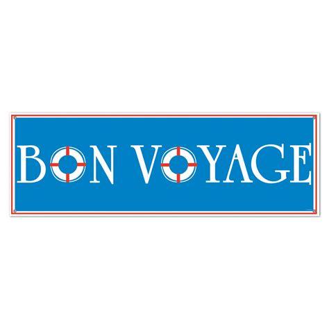 Printable Bon Voyage Banner | bon voyage sign banner