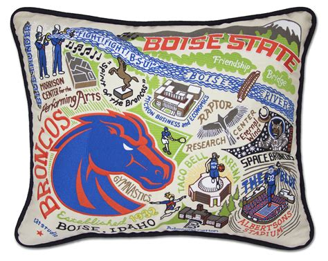 boise state embroidered pillow by catstudio