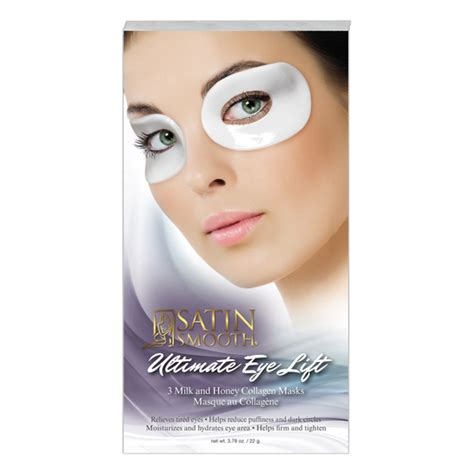 Collagen Mask by Satin Smooth 174 Ultimate Eye Lift Collagen Mask Ssclgeye3g
