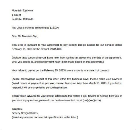 letter of demand template demand letter templates 15 free word pdf documents