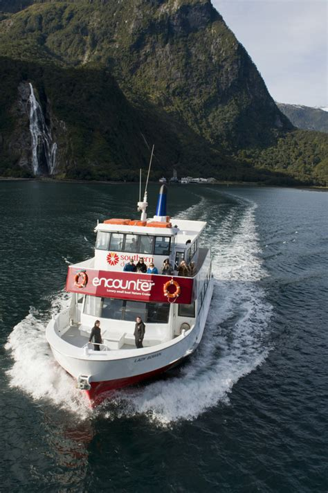 red boat milford sound southern discoveries milford sound red boats small