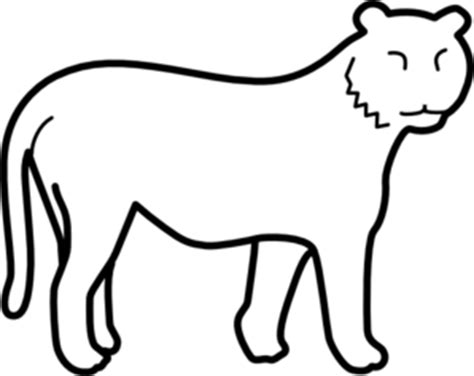 Stripeless Tiger Coloring Page | stripeless tiger clip art at clker com vector clip art