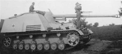 panzerj ger on the battlefield world war two panzerjager nashorn hornisse german tank destroyer during