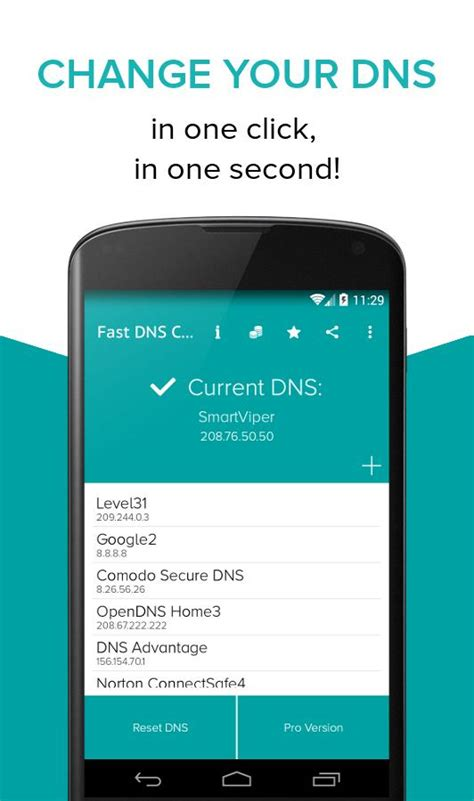 change dns on android fast dns changer no root android apps on play