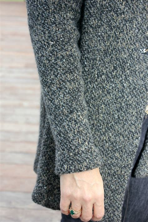 how to sew sweater knit fabric chunky grey wool knit hooded sweater coat