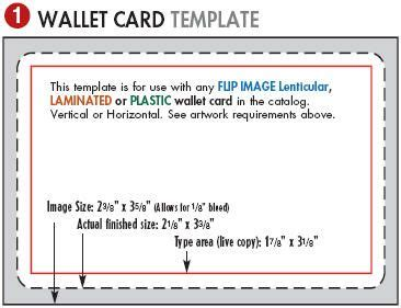 template for wallet sized reference card printable wallet template lenticular printing templates