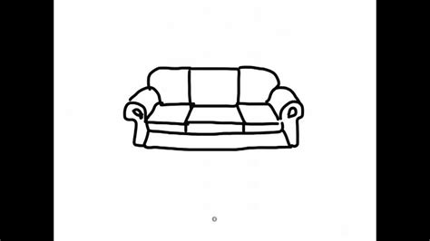 how to draw a couch easy ipad draw a simple cartoon sofa 2 youtube