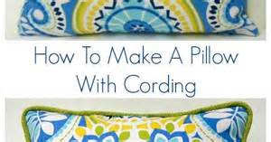 how to make a pillow with cording cord and pillows