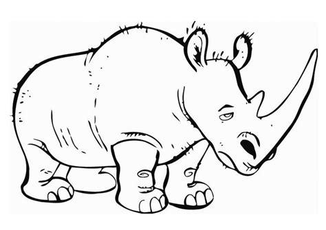 imagenes para colorear rinoceronte dibujo para colorear rinoceronte 01
