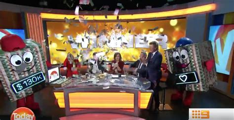 Today Show Cash Giveaway - the lessons from nine s block of cash giveaway scandal on the today show mumbrella