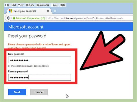 reset windows 8 password hotmail jak změnit heslo 250 čtu hotmail wikihow