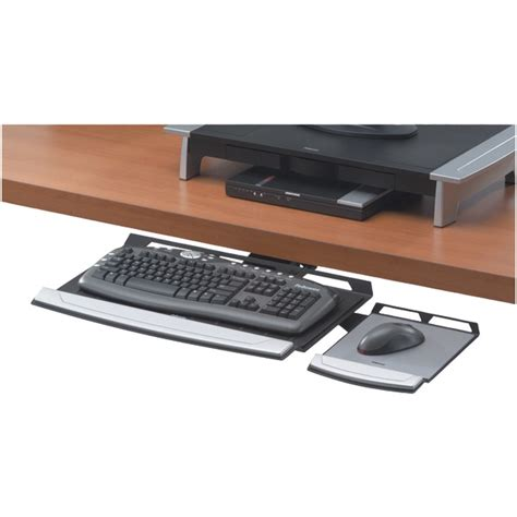 office desk with adjustable keyboard tray fellowes office suites adjustable keyboard tray