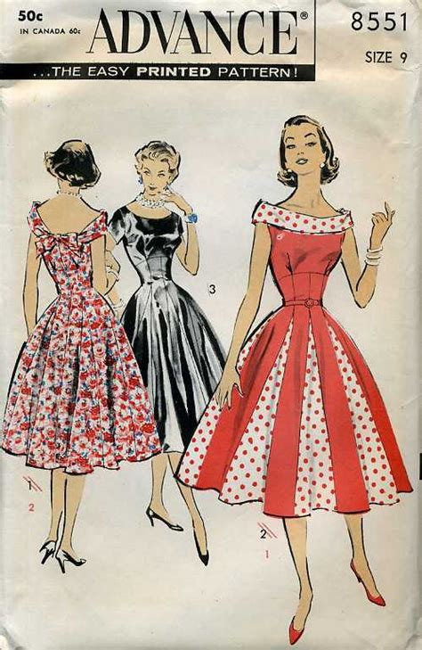 vintage patterns 1950s a 1849940940 advance 8551 vintage sewing patterns fandom powered by wikia