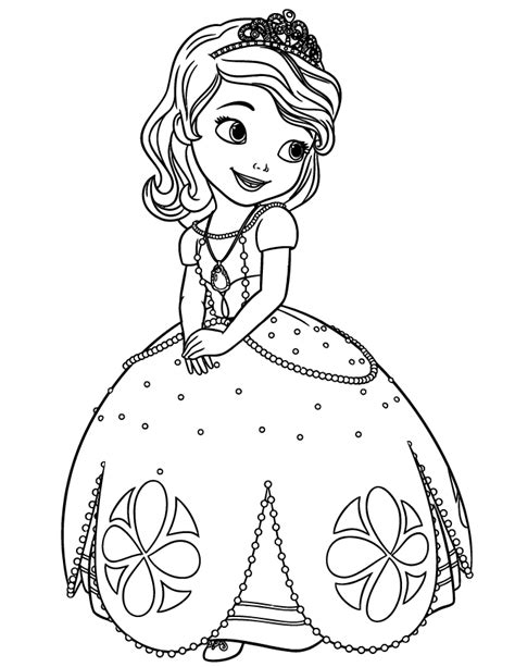 Disney Sofia The First Princess Coloring Page H M Sofia Princess Coloring Pages