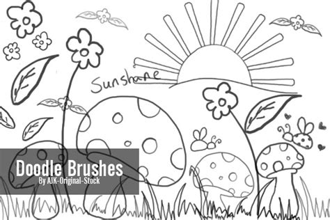 how to draw doodle in photoshop doodle brush pack by ajk original stock on deviantart