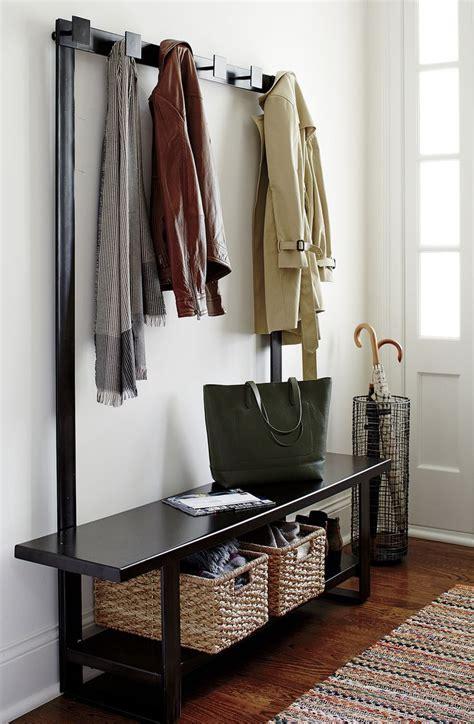 contemporary hall tree bench  coat rack entryway